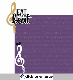 Food and Wine: Eat to the Beat 2 Piece Laser Die Cut Kit
