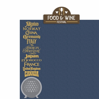 Food and Wine: Food and Wine 2 Piece Laser Die Cut Kit