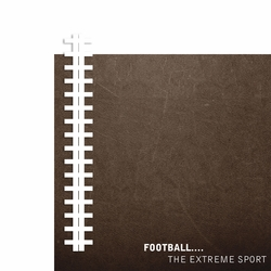 Football Extreme Sport 2 Piece Laser Die Cut Kit