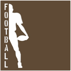 Football: Football player 12 x 12 Paper
