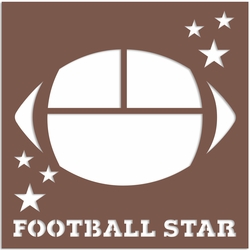 Football: Football Star 12 x 12 Overlay Laser Die Cut