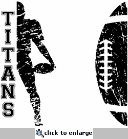Football Player Silhouette Custom 12 x 12 Paper