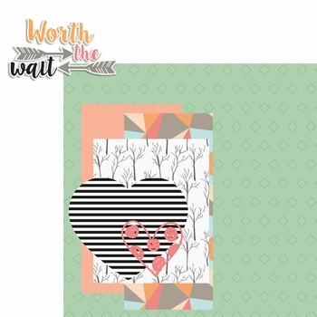 Forever Family: Worth the Wait 2 Piece Laser Die Cut Kit