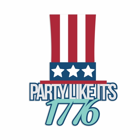 Fourth of July: Party like Laser Die Cut