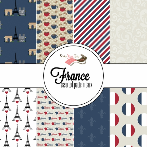 France Assorted 12 x 12 Paper Pack