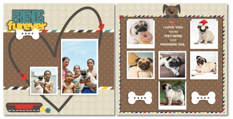 Friends Furever Dog 2 Page Layout Kit