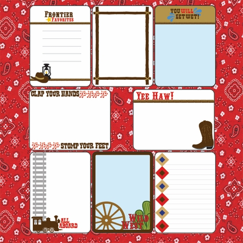 Frontier Land: 12 x 12 Journaling Cards