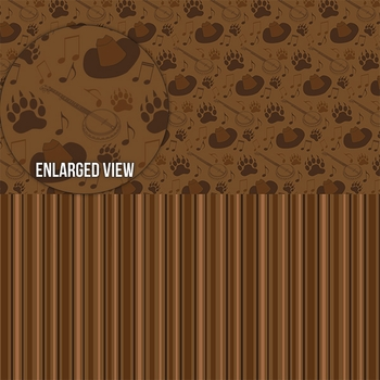 Frontier Land: Halvsies Bear Paw and Stripe 12 x 12 Paper