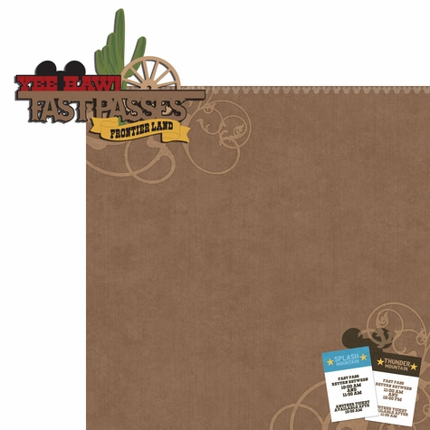 Frontierland: Fastpasses 2 Piece Laser Die Cut Kit