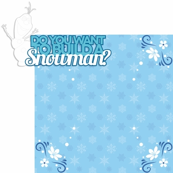 Frozen: Snowman 2 Piece Laser Die Cut Kit