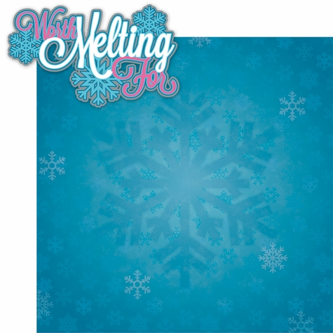 Frozen: Worth Melting For 2 Piece Laser Die Cut Kit