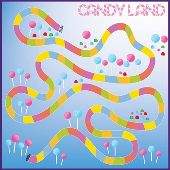 Fun And Games: Candy Land 12 x 12 Paper
