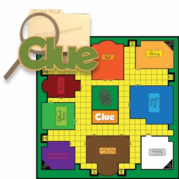 Fun And Games: Clue 2 Piece Laser Die Cut Kit