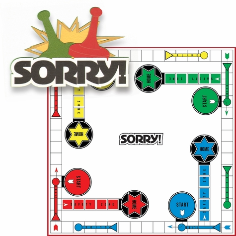 Fun And Games: Sorry! 2 Piece Laser Die Cut Kit