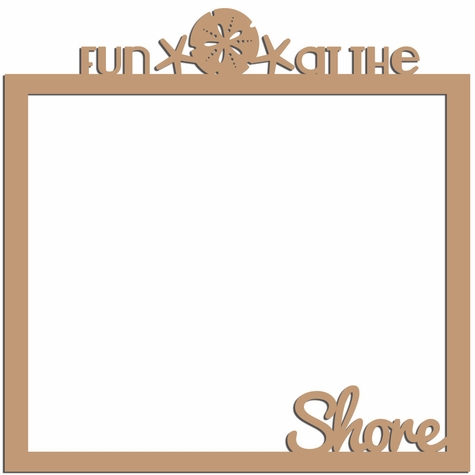 Fun at the shore 12 x 12 Overlay Laser Die Cut