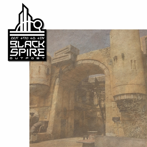 Galaxy's Edge: Black Spire Outpost 2 Piece Laser Die Cut Kit