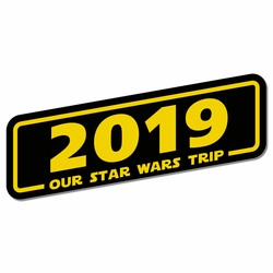 Galaxy's Edge: Year Title Custom Laser Die Cut