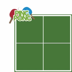 Games: Ping Pong 2 Piece Laser Die Cut Kit