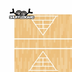 Games: Shuffleboard 2 Piece Laser Die Cut Kit