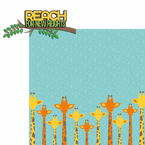 2SYT Giraffe: Reach new heights 2 Piece Laser Die Cut Kit