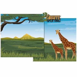 Giraffe Spotting Double Page Layout Kit