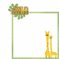 Giraffe: Wild and Free 2 Piece Laser Die Cut Kit