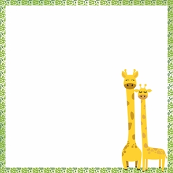 Giraffe: Wild and Free 2 x 12 Paper