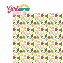 Girl's just wanna have Sun 2 Piece Laser Die Cut Kit