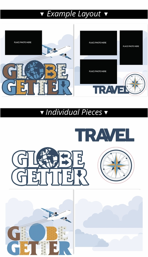 Globe Getter 2 Page Print and Cut