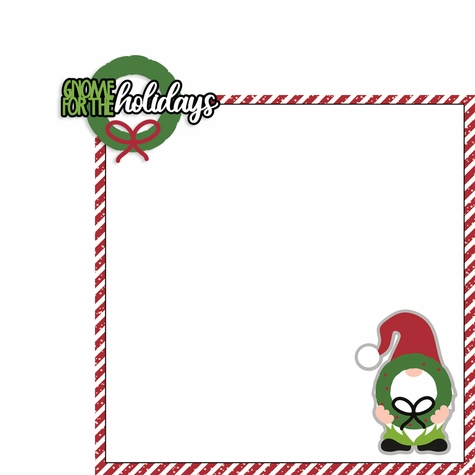 Gnome Christmas: Gnome for the Holidays 2 Piece Laser Die Cut Kit
