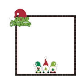 Gnome Christmas: Gnomie Christmas 2 Piece Laser Die Cut Kit