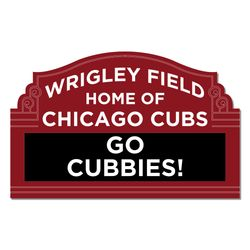 Go Cubbies Laser Die Cut