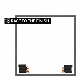 Go Karts: Race to Finish 2 Piece Laser Die Cut Kit