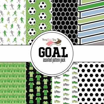 Goal Assorted 12 x 12 Paper Pack