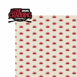 Gone Crabbing 2 Piece Print and Cut Kit