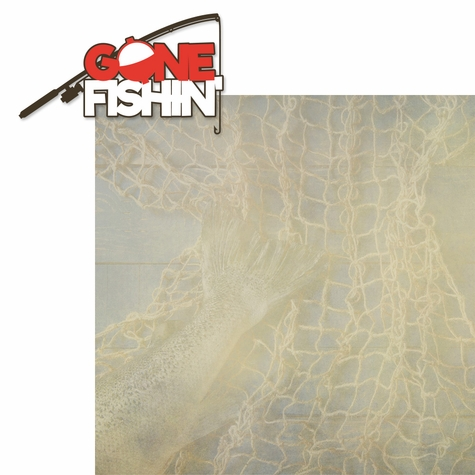 Gone Fishing: Gone Fishin' 2 Piece Laser Die Cut Kit