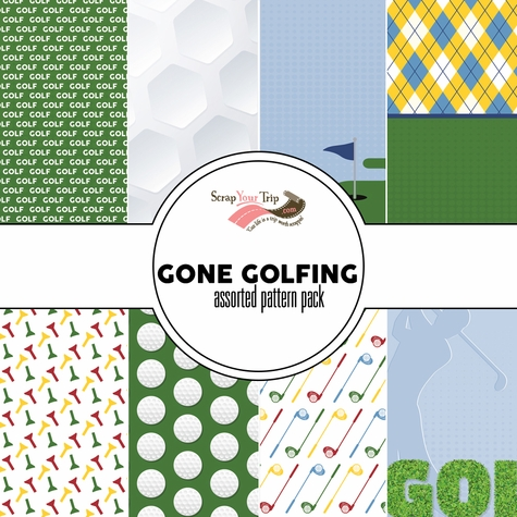 Gone Golfing Assorted 12 x 12 Paper Pack