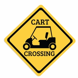 Gone Golfing: Cart Crossing Laser Die Cut
