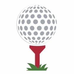 Gone Golfing: Golf Ball and Tee Laser Die Cut