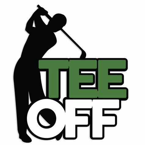 Gone Golfing: Tee Off Laser Die Cut