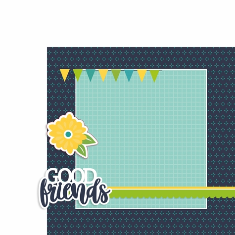 Good Friends 2 Piece Print and Cut Kit