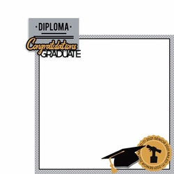 Graduation: Congratulations Graduate 2 Piece Laser Die Cut Kit