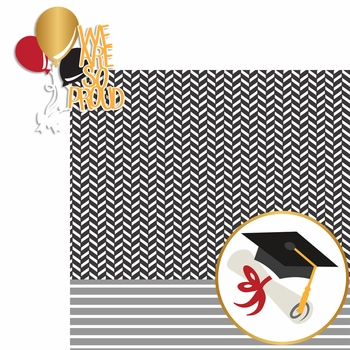 Graduation Day: We Are So Proud 2 Piece Laser Die Cut Kit