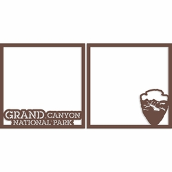 Grand Canyon 12 x 12 Overlay Laser Die Cut