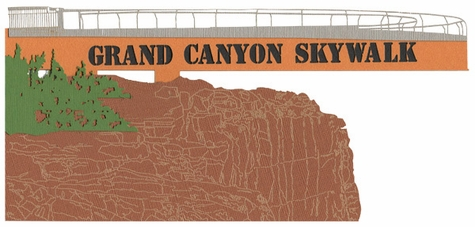 Grand Canyon Skywalk Laser Die Cut