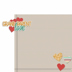 Grandparents: Love 2 Piece Laser Die Cut Kit