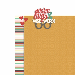 Grandparents: Warm hugs 2 Piece Laser Die Cut Kit