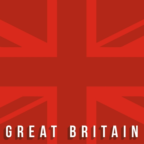 Great Britain: Red Union Jack 12 x 12 Paper