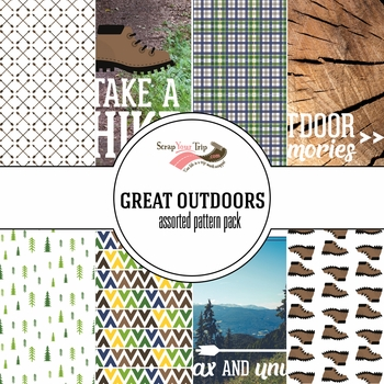 Great Outdoors Assorted 12 x 12 Paper Pack
