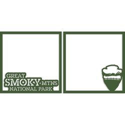 Great Smoky 12 x 12 Overlay Laser Die Cut